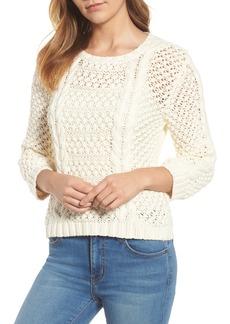 Velvet by Graham & Spencer Popcorn Cable Sweater
