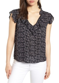Velvet by Graham & Spencer Printed Gauze Blouse
