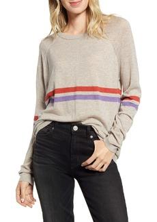 Velvet by Graham & Spencer Race Stripe Lux Cotton Sweater