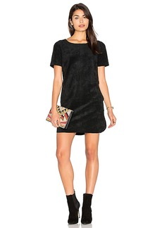 Velvet by Graham & Spencer Reya Faux Suede Dress in Black. - size L (also in S,XS)