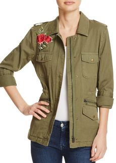 Velvet by Graham & Spencer Rhoda Embroidered Army Jacket - 100% Exclusive