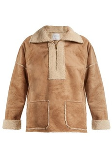 Velvet By Graham & Spencer Rika faux fur-trimmed faux-suede jacket