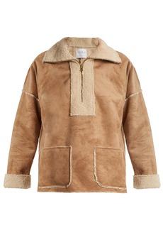 Velvet By Graham & Spencer Rika faux fur-trimmed faux-suede jacket