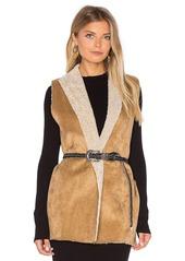 Velvet by Graham & Spencer Royce Vest with Faux Fur Lining