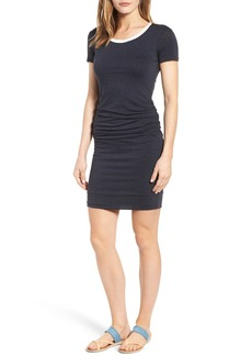 Velvet by Graham & Spencer Ruched Ringer T-Shirt Dress