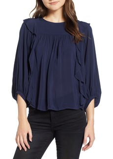 Velvet by Graham & Spencer Ruffle Sides Blouse