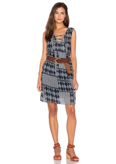 Velvet by Graham & Spencer Sarita Mali Gauze Print Shift Dress