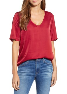 Velvet by Graham & Spencer Satin Tee