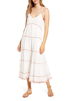 Velvet by Graham & Spencer Scallop Embroidered Gauze Sundress