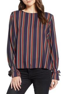 Velvet by Graham & Spencer School Stripe Tie Sleeve Top