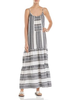 Velvet by Graham & Spencer Sharon Tiered Striped Maxi Dress