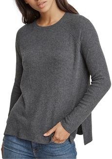 Velvet by Graham & Spencer Side-Slit Rib-Knit Sweater