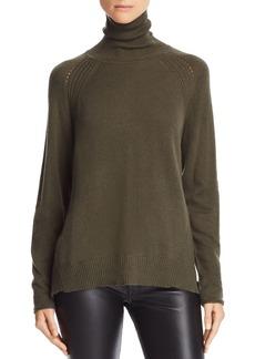 Velvet by Graham & Spencer Side-Slit Turtleneck Sweater - 100% Exclusive