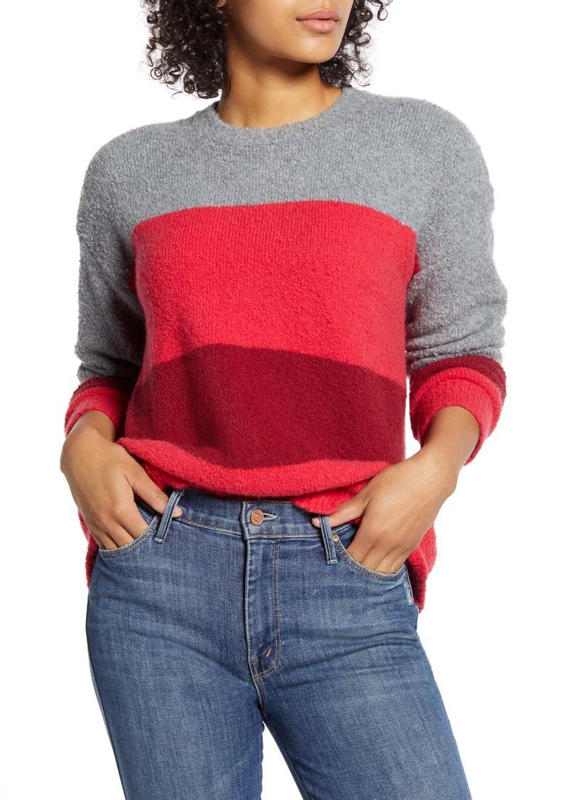 Velvet by Graham & Spencer Stripe Bouclé Sweater