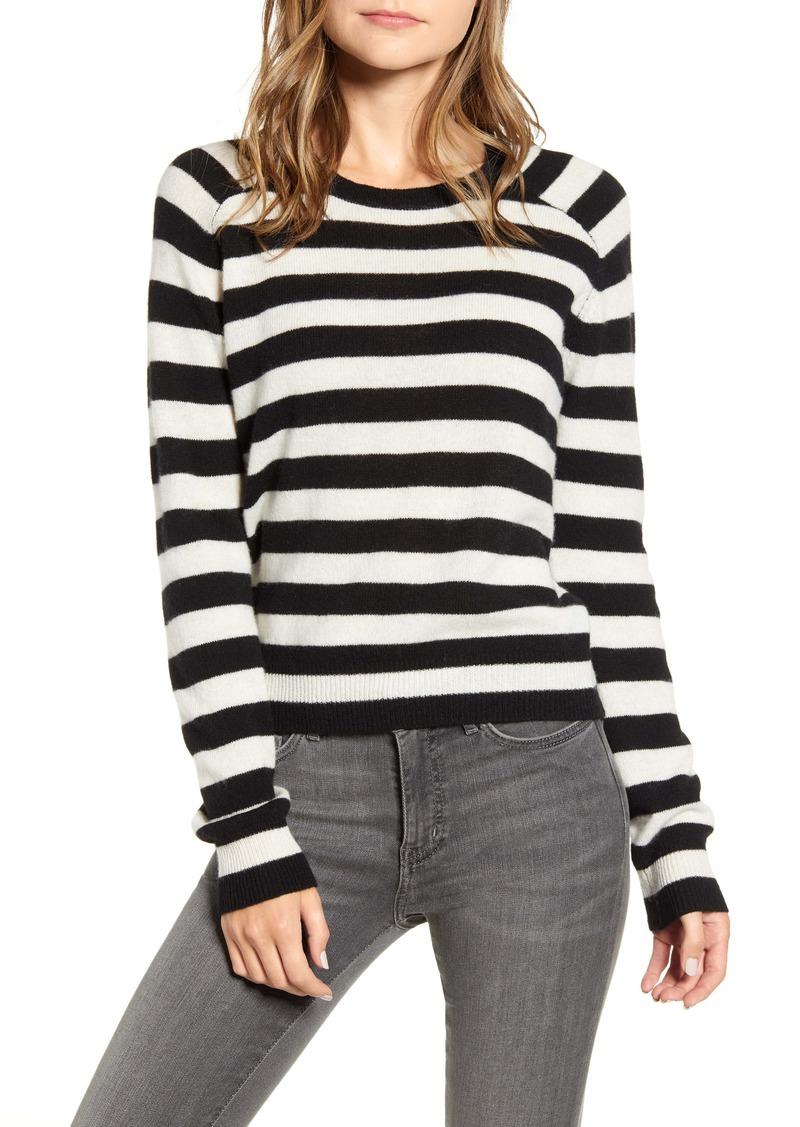 Velvet by Graham & Spencer Stripe Cashmere Crewneck Sweater