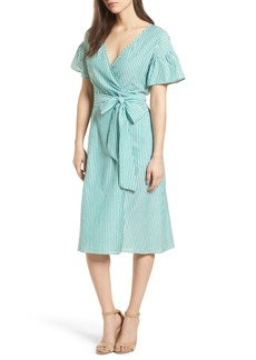 Velvet by Graham & Spencer Stripe Cotton Wrap Dress