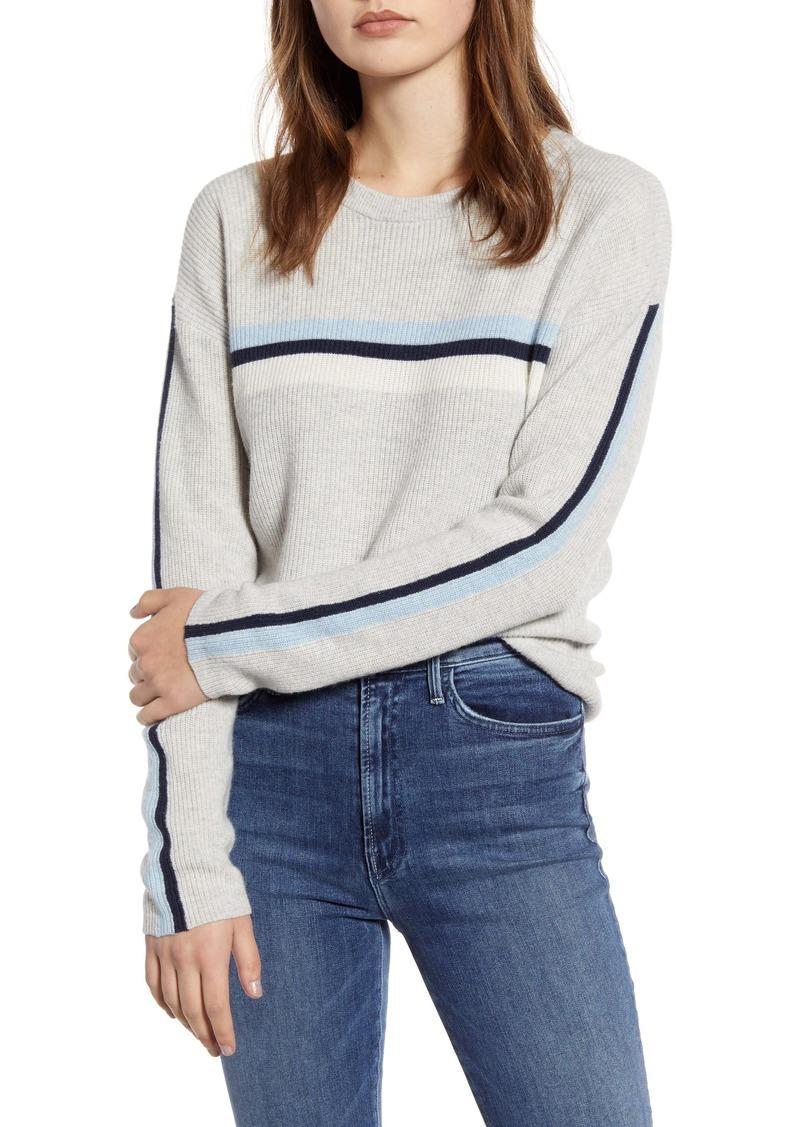 Velvet by Graham & Spencer Stripe Detail Wool & Cashmere Sweater