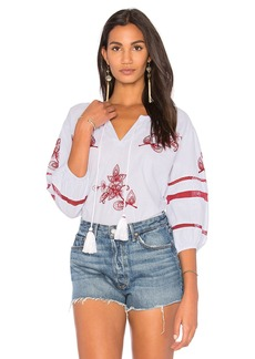 Velvet by Graham & Spencer Tagan Embroidered Blouse