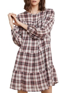 Velvet by Graham & Spencer Tiered Plaid Dress