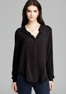 Velvet by Graham & Spencer Top - Rosie Rayon Challis Henley