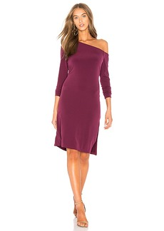 Velvet by Graham & Spencer Torey Dress in Burgundy. - size L (also in M,S,XS)