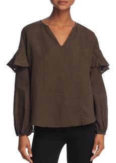 Velvet by Graham & Spencer Tyra Ruffled Peasant Top