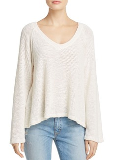 Velvet by Graham & Spencer V-Neck Honeycomb Top