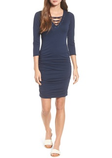 Velvet by Graham & Spencer Whisper Lace-Up Body-Con Dress