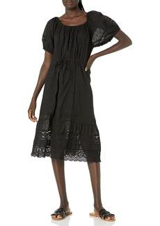 Velvet by Graham & Spencer Women's Adalyn Cotton Lace Midi Dress  S