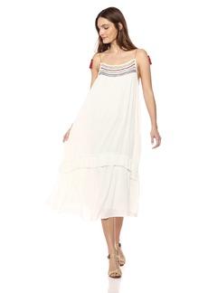 Velvet by Graham & Spencer Women's Aira Embroidered Gauze Dress  S
