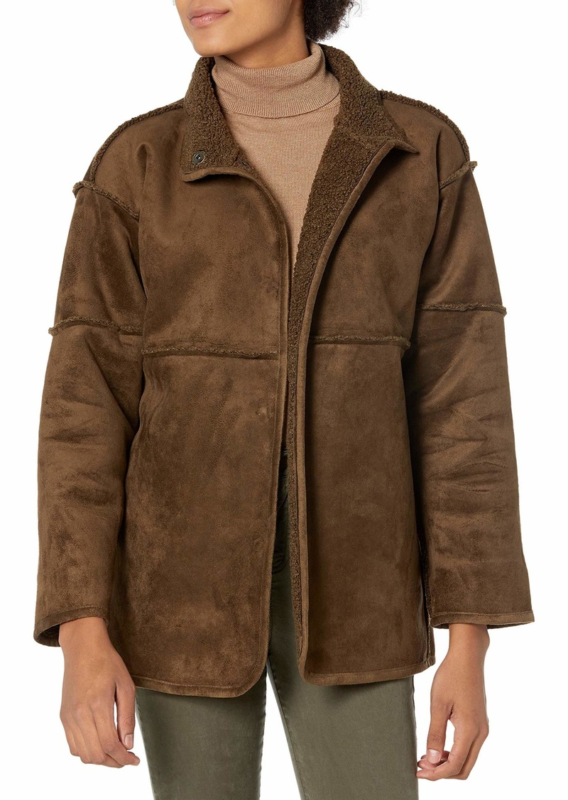 Velvet by Graham & Spencer Women's Albany Faux Sherpa Jacket  XL
