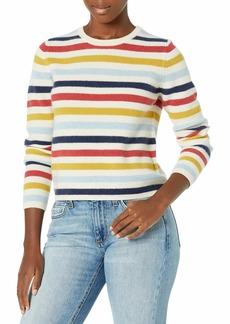 Velvet by Graham & Spencer Women's Alyssa Stripe Cashmere Pullover  S