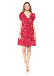 Velvet by Graham & Spencer Women's Amaury Floral Shortsleeve Wrap Dress  S