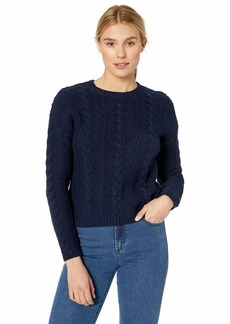 Velvet by Graham & Spencer Women's Arely Cotton Cable Sweater  L