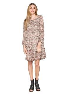 Velvet by Graham & Spencer Women's Ariana Printed Smocked Dress  M