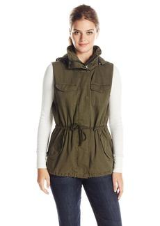 VELVET BY GRAHAM & SPENCER Women's Army Vest with Fur Hood