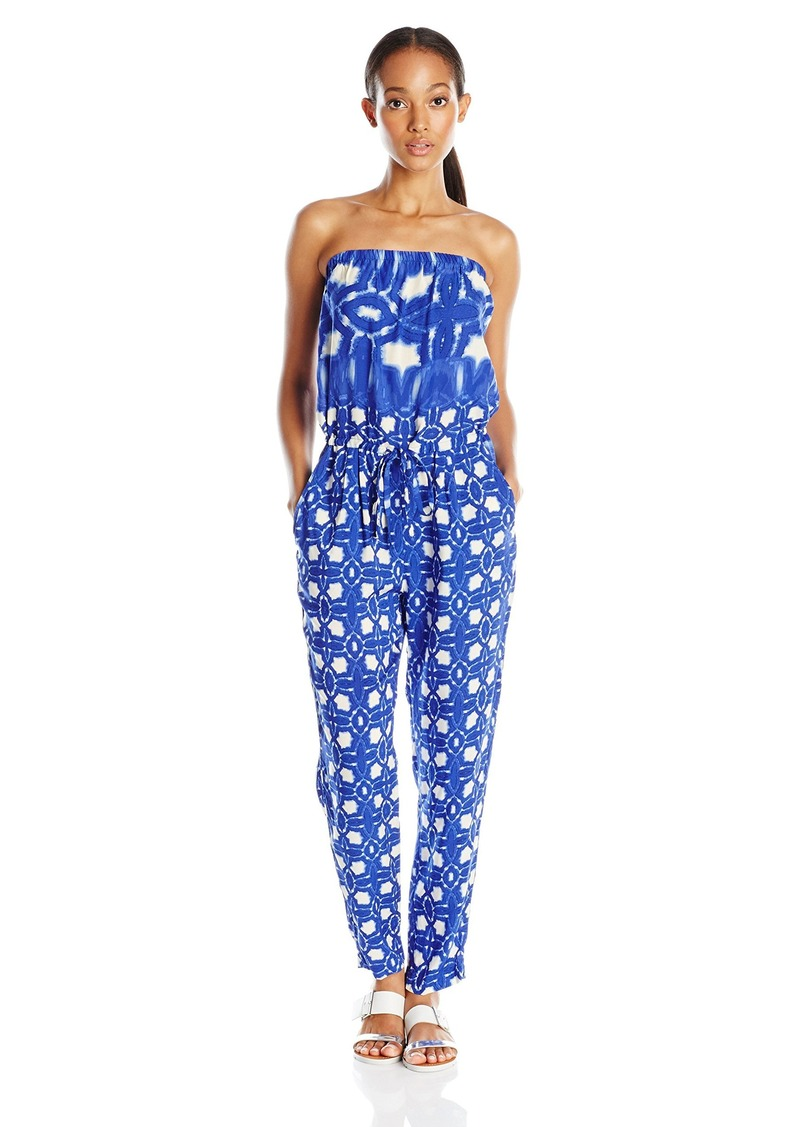 VELVET BY GRAHAM & SPENCER Women's Atlantis Print Jumpsuit