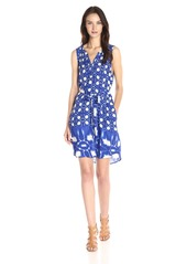 Velvet by Graham & Spencer Women's Atlantis Print Sleeveless Dress