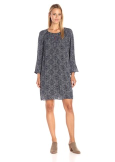 VELVET BY GRAHAM & SPENCER Women's Batik Print Embroidered Dress  M