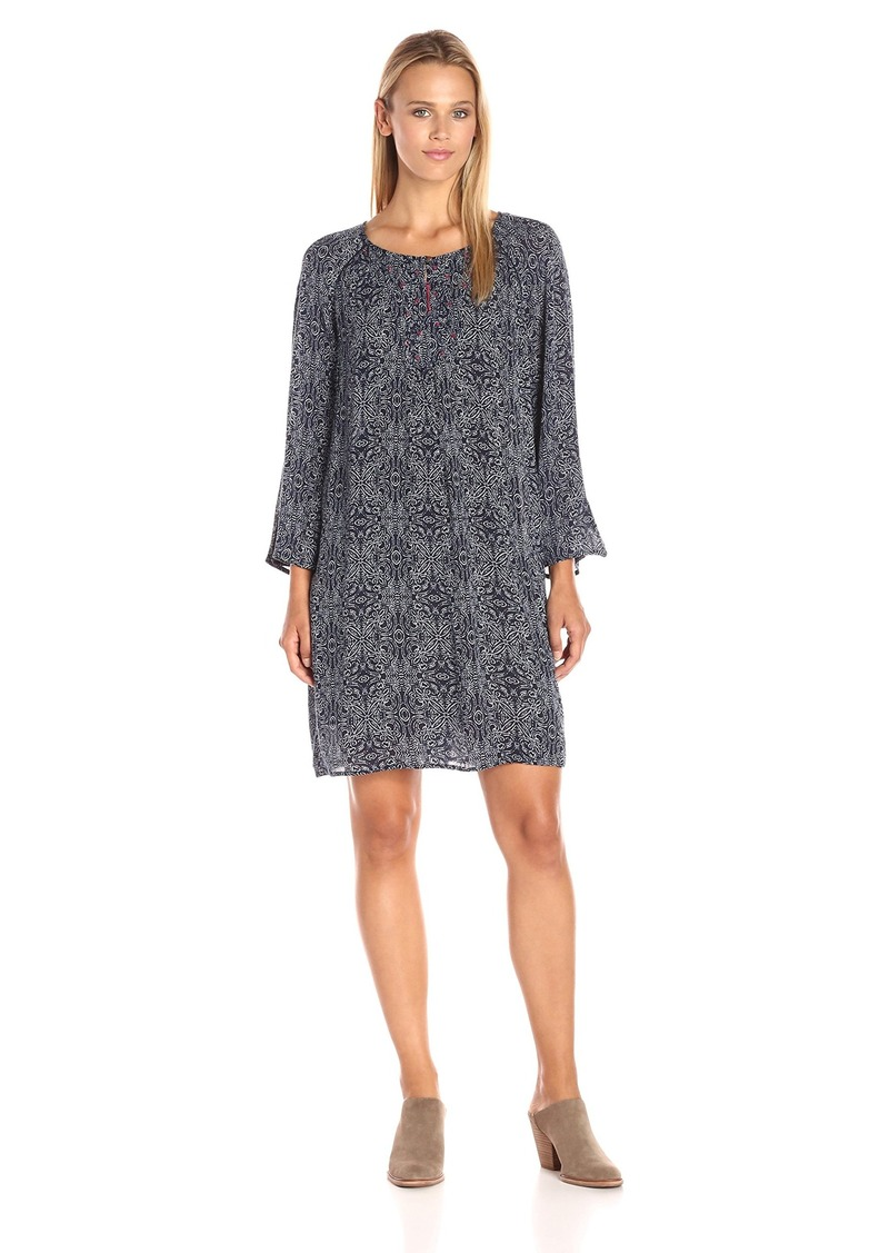 Velvet by Graham & Spencer Women's Batik Print Embroidered Dress  XS