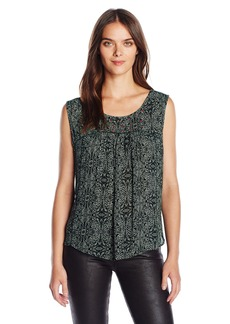 Velvet by Graham & Spencer Women's Batik Print Yoke Blouse  M