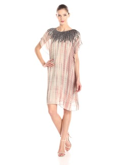VELVET BY GRAHAM & SPENCER Women's Beaded Tie Dye Dress