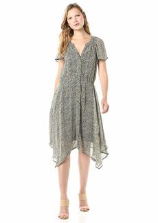 Velvet by Graham & Spencer Women's Belen Printed Viscose Crepe Dress  M