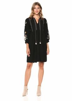 Velvet by Graham & Spencer Women's Bettina Embroidered Dress  XL