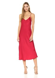 VELVET BY GRAHAM & SPENCER Women's Brienne Satin Slip Dress  L
