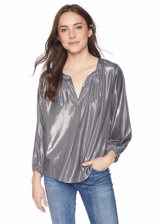 Velvet by Graham & Spencer Women's Carla lamé Blouse  L