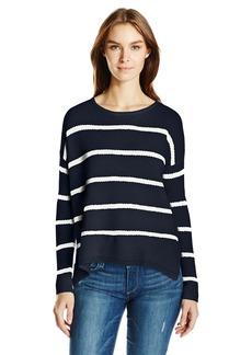 Velvet by Graham & Spencer Women's Cashmere Blend Stripe Sweater  L