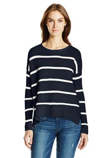 Velvet by Graham & Spencer Women's Cashmere Blend Stripe Sweater  S