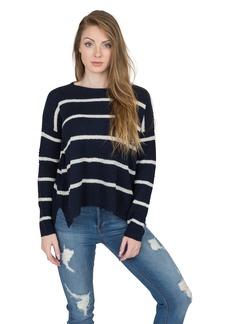Velvet by Graham & Spencer Women's Cashmere Blend Stripe Sweater  XS