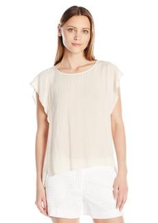 VELVET BY GRAHAM & SPENCER Women's Challis Flutter Sleeve Blouse